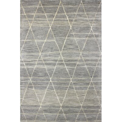 Dellroy Hand-Tufted Taupe Area Rug Rug Size: 56 x 86