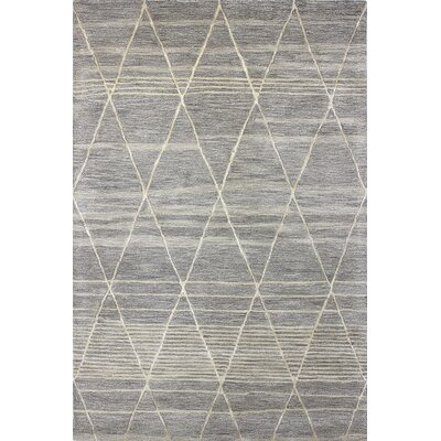 Dellroy Hand-Tufted Taupe Area Rug Rug Size: 86 x 116