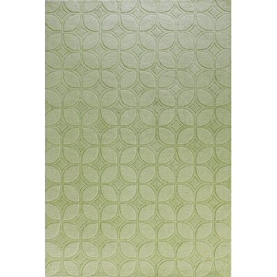 Morgan Hand-Woven Light Green Area Rug Rug Size: 5 x 76