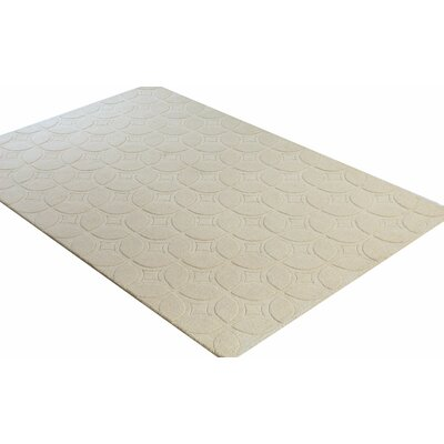 Pardee Hand-Woven Ivory Area Rug Rug Size: 76 x 96