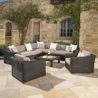 Monroeville 8 Piece Sectional Seating Group with Cushion Fabric: Frank Stone