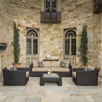 Monroeville 5 Piece Deep Seating Group with Cushion Fabric: Frank Stone