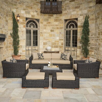 Monroeville 7 Piece Deep Seating Group with Cushion Color: Heather Beige