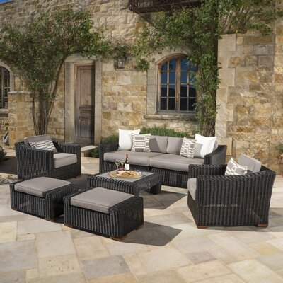 Monroeville 7 Piece Deep Seating Group with Cushion Fabric: Frank Stone