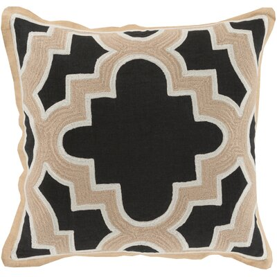 Dupont Maze 100% Cotton Throw Pillow Cover Size: 20 H x 20 W x 1 D, Color: BlackNeutral