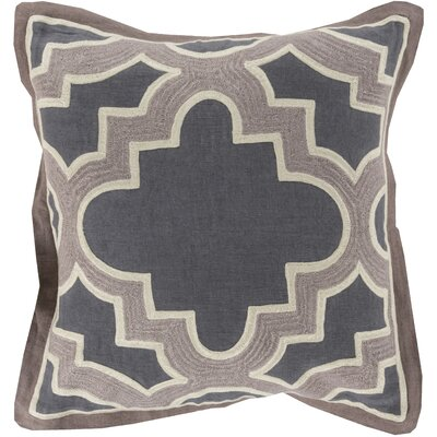 Dupont Maze 100% Cotton Throw Pillow Cover Size: 18 H x 18 W x 0.25 D, Color: Neutral