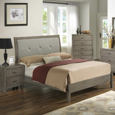 Acres Upholstered Platform Bed Size: Queen, Finish: Gray