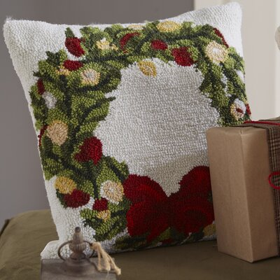 Haggerty Wreath Throw Pillow