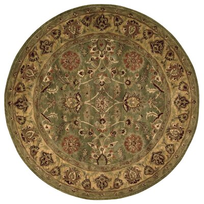 Delaware Hand-Woven Wool Area Rug Rug Size: Round 6