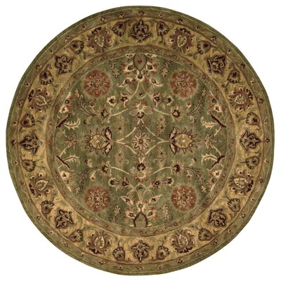 Delaware Hand-Woven Wool Area Rug Rug Size: Round 8