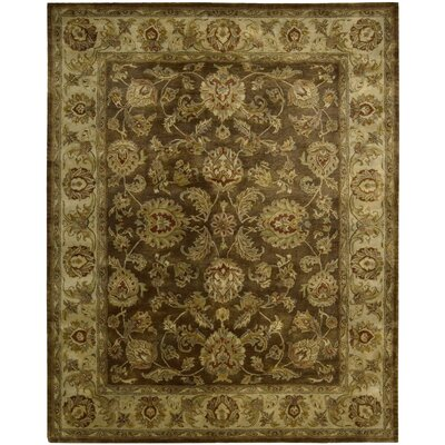 Delaware Hand-Tufted Brown Area Rug Rug Size: 56 x 86