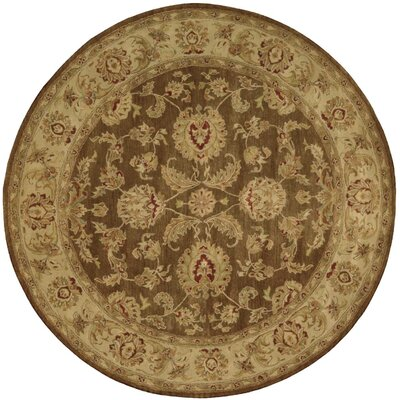Delaware Hand-Tufted Brown Area Rug Rug Size: Round 8