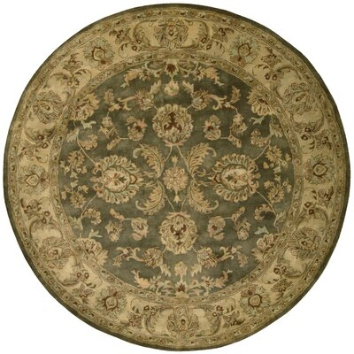 Delaware Green Area Rug Rug Size: Round 6