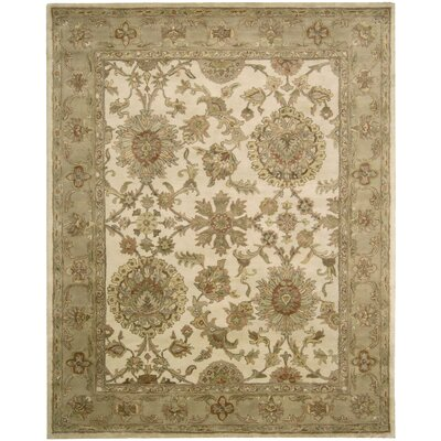 Delaware Hand-Tufted Wool Ivory Area Rug Rug Size: 56 x 86