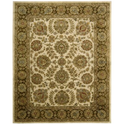 Delaware Ivory/Brown Rug Rug Size: Rectangle 83 x 116