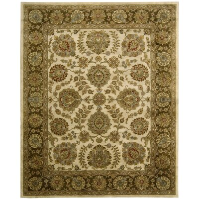 Delaware Ivory/Brown Rug Rug Size: 39 x 59