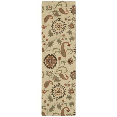 Langport Hand-Tufted Wool Beige Area Rug Rug Size: Runner 23 x 76