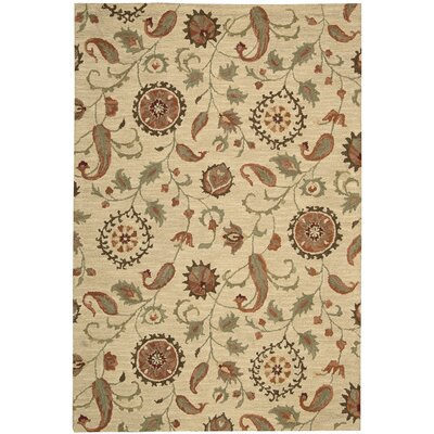 Langport Hand-Tufted Wool Beige Area Rug Rug Size: 79 x 99