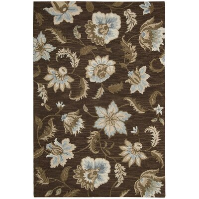 Langport Chocolate Area Rug Rug Size: 79 x 99