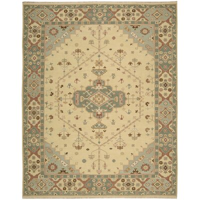 Leavittsburg Hand-Woven Butter Area Rug Rug Size: 12 x 18