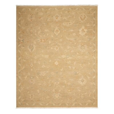 Leavittsburg Hand-Woven Gold Area Rug Rug Size: 79 x 99