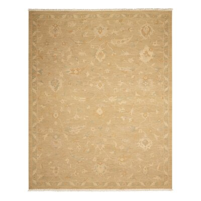 Leavittsburg Hand-Woven Gold Area Rug Rug Size: 86 x 116