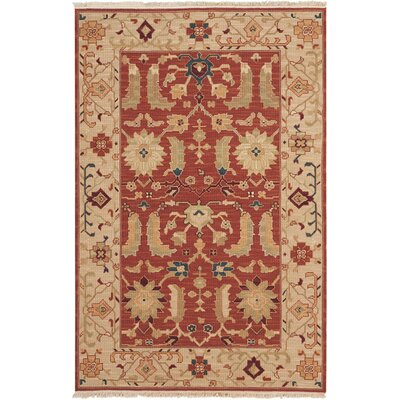 Leavittsburg Hand-Woven Rust Area Rug Rug Size: Rectangle 310 x 510