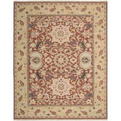 Leavittsburg Rust Area Rug Rug Size: 12 x 15