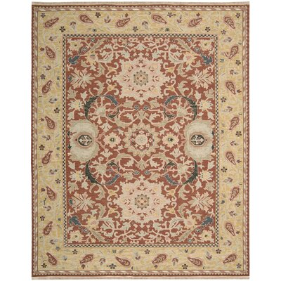 Leavittsburg Rust Area Rug Rug Size: 510 x 810