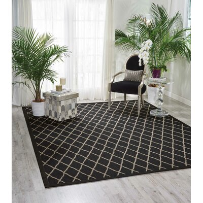 Northridge Black Pearl Indoor/Outdoor Area Rug Rug Size: Runner 26 x 8