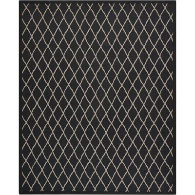 Northridge Black Pearl Indoor/Outdoor Area Rug Rug Size: 9 x 12