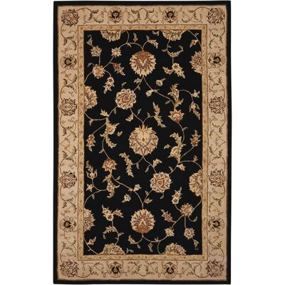 Ottoville Hand-Tufted Black/Beige Area Rug Rug Size: 79 x 99