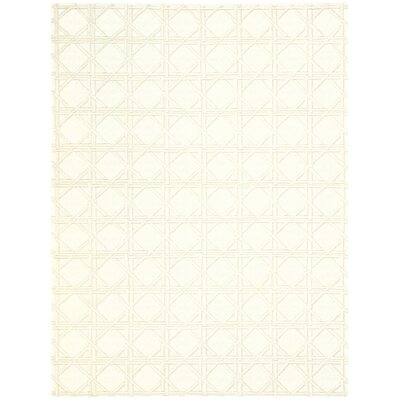 Oxford Hand-Woven Ivory Area Rug Rug Size: 56 x 76