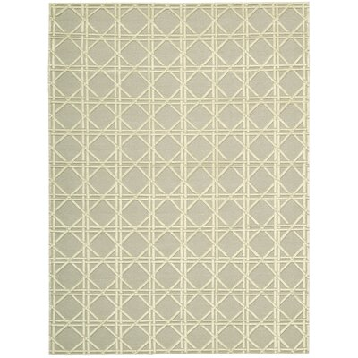 Oxford Hand-Woven Gray/Beige Area Rug Rug Size: 56 x 76