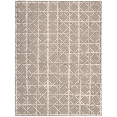 Oxford Hand-Woven Mocha Area Rug Rug Size: 86 x 116