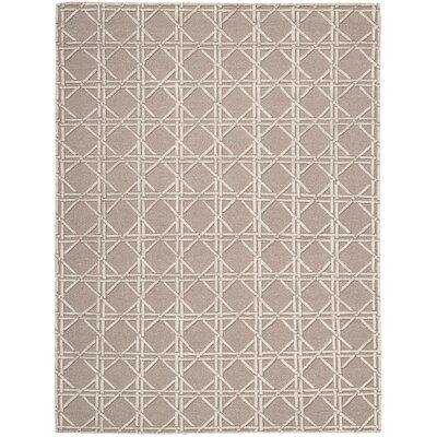 Oxford Hand-Woven Mocha Area Rug Rug Size: 79 x 99