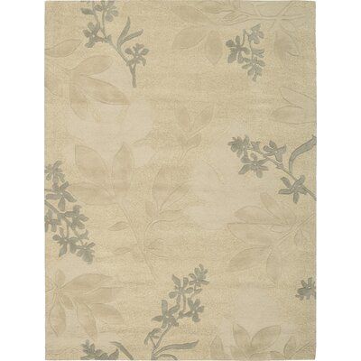 Peterson Hand-Tufted Beige Area Rug Rug Size: 8 x 11