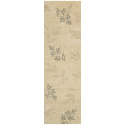 Peterson Hand-Tufted Beige Area Rug Rug Size: Rectangle 36 x 56