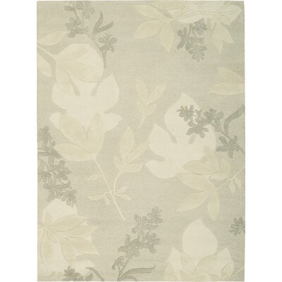 Peterson Hand-Tufted Gray Area Rug Rug Size: 56 x 75