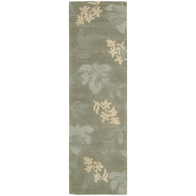 Peterson Hand-Tufted Green Area Rug Rug Size: Runner 23 x 8