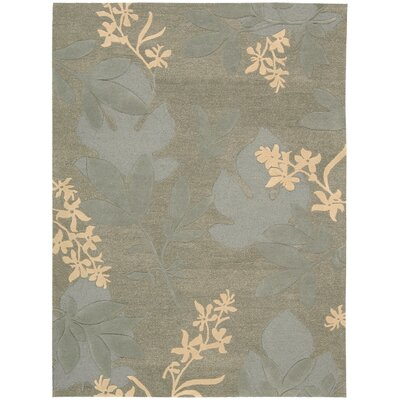Peterson Hand-Woven Green Area Rug Rug Size: 56 x 75