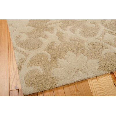 Peterson Hand-Tufted Wool Light Gold Area Rug Rug Size: 36 x 56
