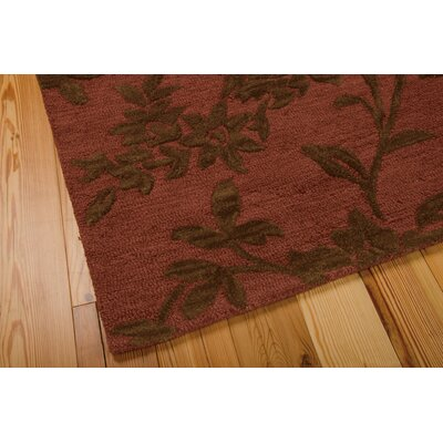 Peterson Hand-Tufted Rust/Brown Area Rug