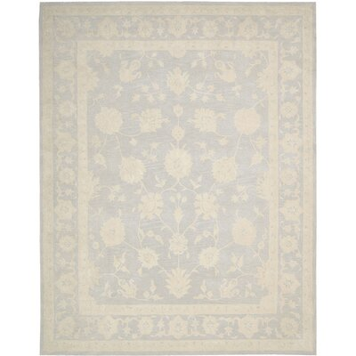 Ridgeville Hand-Tufted Light Blue Area Rug Rug Size: 56 x 75