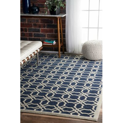 Allan Blue Area Rug Rug Size: Rectangle 5 x 8
