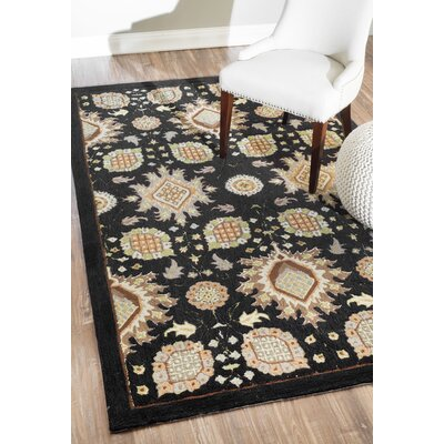 Allwood Black Area Rug Rug Size: 5 x 8