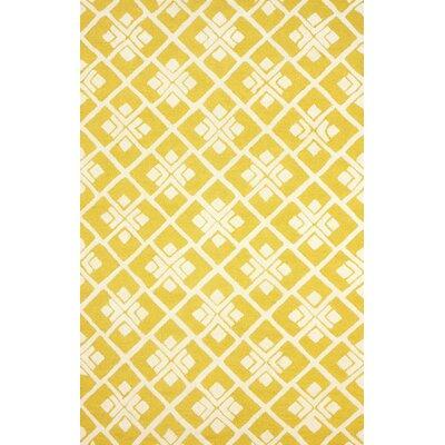 Bradlee Yellow Rug Rug Size: 76 x 96