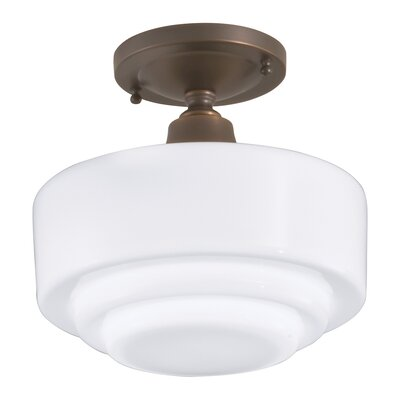 Fredericksen 1-Light Semi Flush Mount Finish: Oil Rubbed Bronze