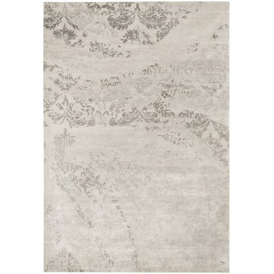 Lees Hand-Knotted Platinum Area Rug Rug Size: Rectangle 10 x 14