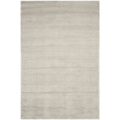 Tindall Hand-Knotted Gray Area Rug